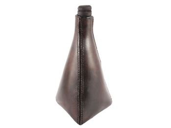 Picture of Leather Triangular Flask