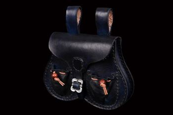 Picture of 'Ballock' Style Leather Belt Pouch